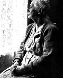 elderly woman neglected